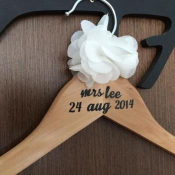 Last Name Wedding Hanger // Bridal Hanger